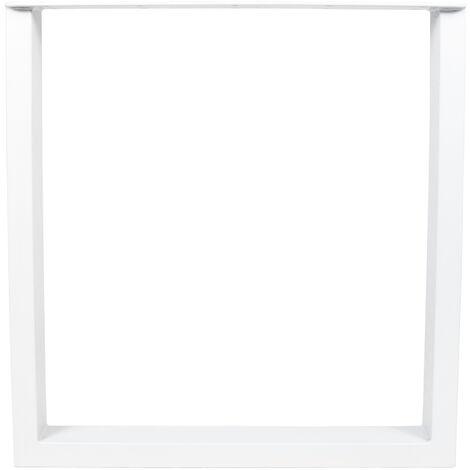 Piernas de mesa en metal 80x72x8cm blanco