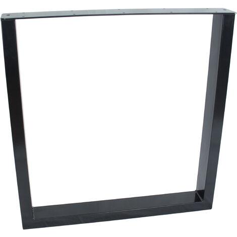 Piernas de mesa en metal 90x72x8cm negro