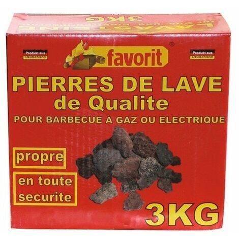 Pierre de lave 3 kg barbecue - FAVORIT