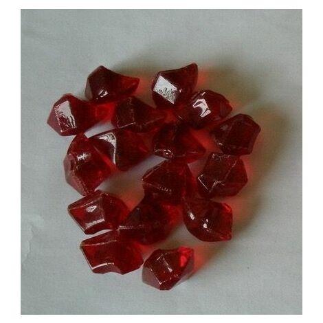 Pierres décoratives en fibre de verre rouge