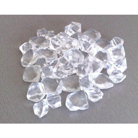 Pierres décoratives en fibre de verre transparente