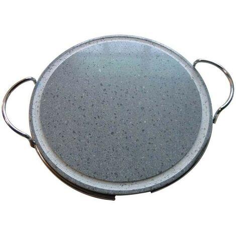 Pietra lavica con supporto diametro cm.26 utilizzabile su barbecue - Fraschetti