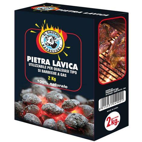 PIETRA LAVICA PER BARBECUE A GAS DA KG 2