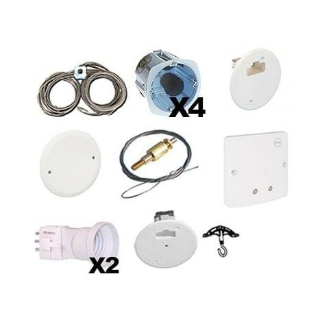 Pieuvre électrique - Salle de bain Premium - 1 prise - 2 éclairages - 1 sèche-serviettes - 9m2