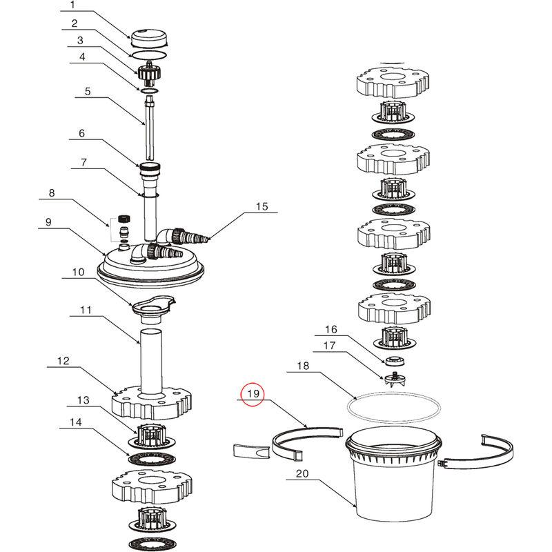 Faithfull fppsltlba38l lastre Unidad Para 38 Watt Luz de trabajo de 110 voltios