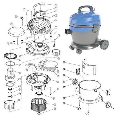 Piezas de recambio para aspiradora líquidos sólidos bs-1020a