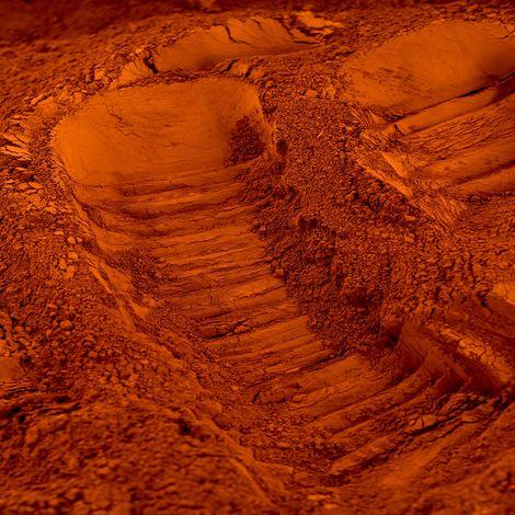"""main image of """"Pigment naturel pour béton et chaux : Terre de Sienne Calcinée"""""""