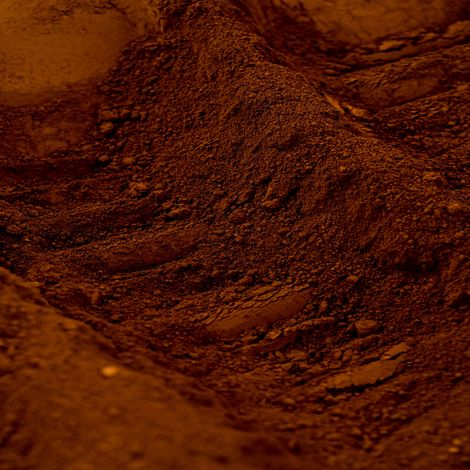 Pigment naturel pour béton et chaux:Terre d'ombre Calcinée | 500g