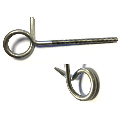 Pigtail Eyerod / Eyebolt / Anchor Bolt M10 x 150 mm T304 (A2) Stainless Steel