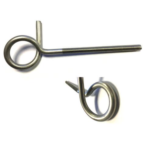 Pigtail Eyerod / Eyebolt / Anchor Bolt M8 x 150 mm T304 (A2) Stainless Steel