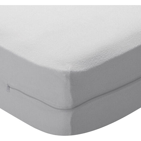 Pikolin - Funda de colchón en rizo con Aloe Vera 90x190/200cm , Cama de 90 , Blanco
