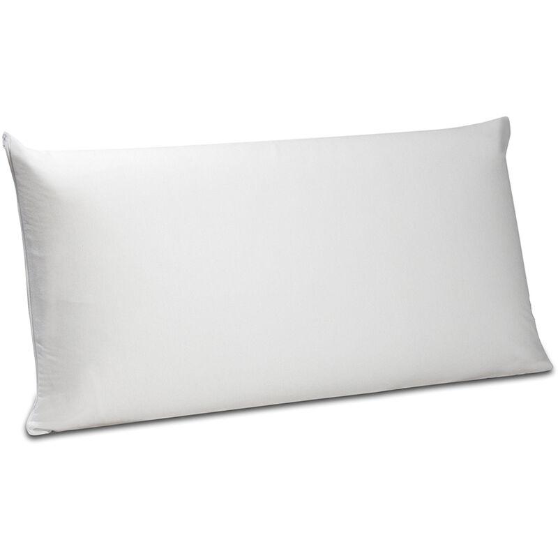 Pikolin Home - Funda de almohada de punto 100% bambú impermeable 75x40cm , Almohada de 75 , Blanco