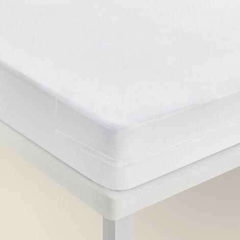 Pikolin Home - Funda de colchón de rizo impermeable antiácaros transpirable
