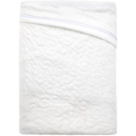 Pikolin Home - Housse de matelas intégrale bi-élastique, anti-acariens et respirante . 200x200cm , Blanc . Lit de 200