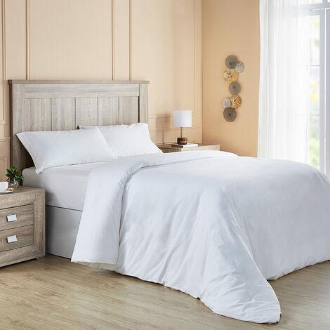 Pikolin Home - Parure de lit avec housse de couette 100% coton 140 fils. 90x190cm , Blanc . Lit de 90/105 - Blanc