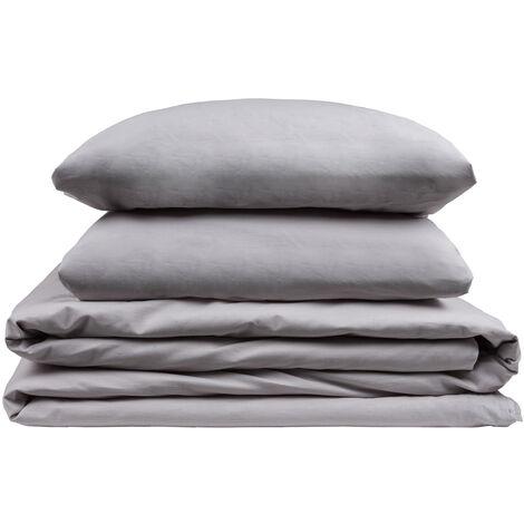 Pikolin Home - Parure de lit avec housse de couette 100% coton respirant 200 fils au pouce. 90x190cm , Blanc . Lit de 90/105 - Blanc