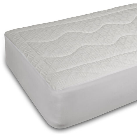 Pikolin Home - Protector de colchón acolchado con Milk Fiber impermeable