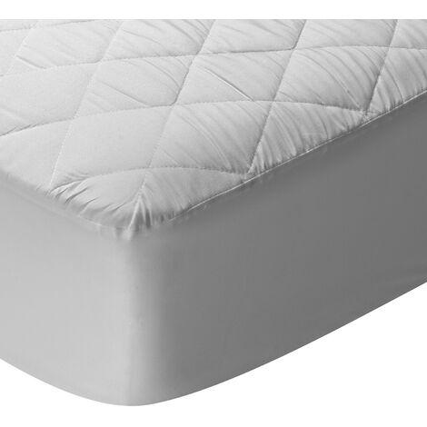 Pikolin Home - Protector de colchón acolchado impermeable y transpirable 60x120cm , Cuna , Blanco