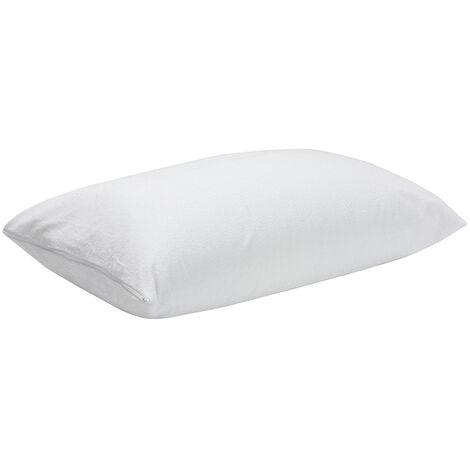 Pikolin Home - Taie d'oreiller éponge anti-allergique, anti-acariens et imperméable . 80x50cm , Blanc . Oreiller de 80