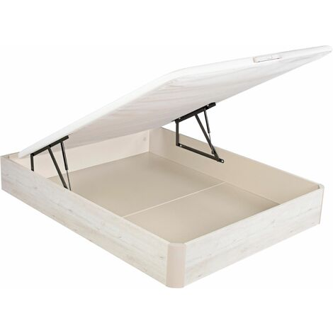 PIKOLIN I Canapé abatible color Glaciar 160x190, fácil apertura, capacidad de almacenaje, tapa 3D Transpirable, incluye subida a domicilio, desembalaje, montaje retirada de usado