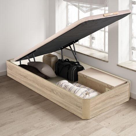 PIKOLIN I Canapé abatible color Natural 90x200, fácil apertura, capacidad de almacenaje, tapa 3D Transpirable, incluye subida a domicilio, desembalaje, montaje retirada de usado