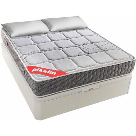 """main image of """"PIKOLIN I Pack Colchón de muelles ensacados 150x190 + canapé con Base abatible y Almohada de Fibra - Troas"""""""
