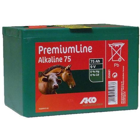 Pila alcalina AKO PREMIUM LINE para pastor eléctrico 75 AH 9V