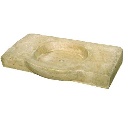 Pila Lavamanos Rústica para interior o exterior en hormigón-piedra 85x50x14cm.