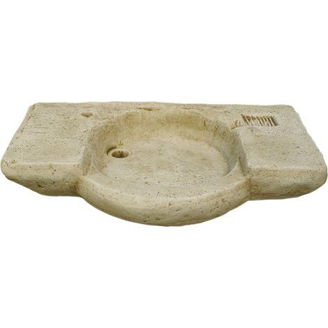 Pila Lavamanos Rústica para interior o exterior en hormigón-piedra 90x55x18cm.
