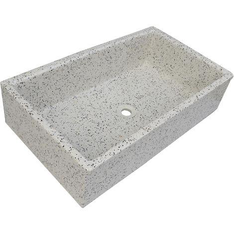 Pila, Pilón, Fregadero o Lavadero de piedra dálmata de 91x53x22 cm.