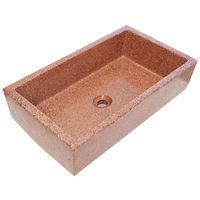 Pila, Pilón, Fregadero o Lavadero de piedra rojo de 91x53x22 cm.