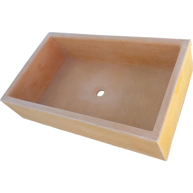 Terrazos Cantalejo PIL/ÓN PILONA o Pila DE Piedra Artificial Similar AL Granito O M/ÁRMOL DE 70x46x21 cm.