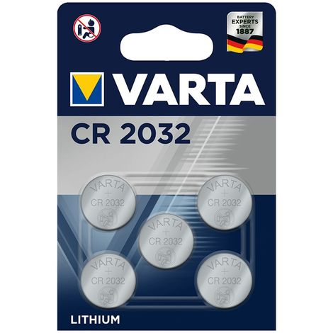 Pilas de botón de litio Varta CR2032 3,0 V (20,0 x 3,2), 5 unidades en blíster