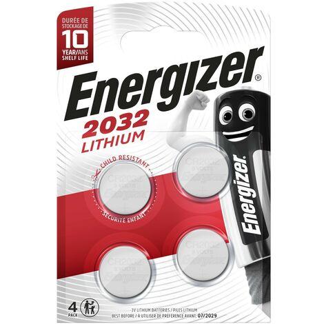 Pilas de botón Energizer CR2032 Pack 4 unidades