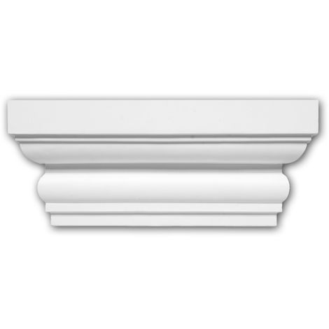 Pilaster Capital 121004 Profhome Decorative Element Doric style white