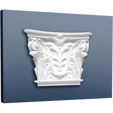 Pilaster Capital Decoration element Stucco made of light rigid foam white Orac Decor K251 LUXXUS