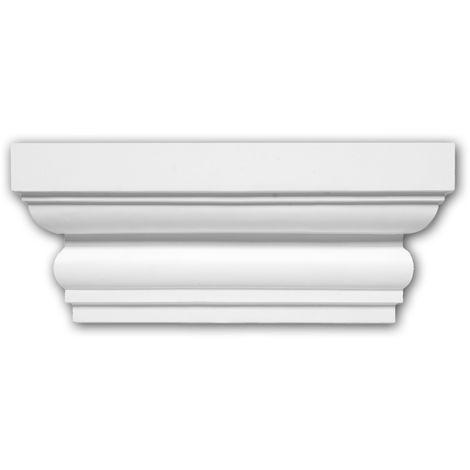 Pilaster Kapitell PROFHOME 121004 Zierelement Dorischer Stil weiß