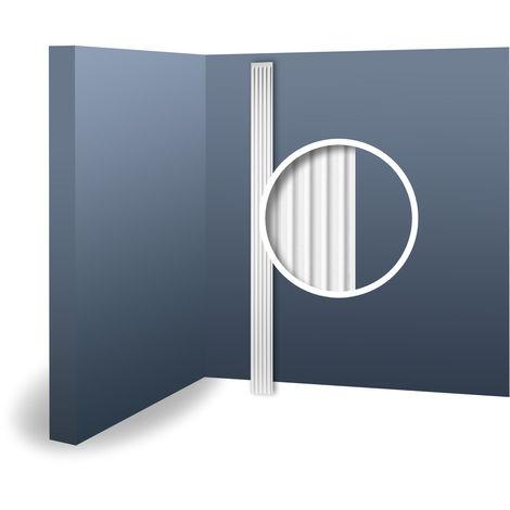 Pilastre Fût Elément de stuc Orac Decor K200 LUXXUS Elément décoratif pour le mur de mousse solide léger blanc | 2 m