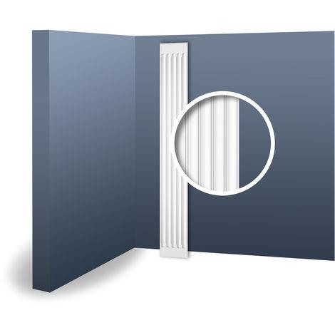 Pilastre Fût Elément décoratif de stuc Orac Decor K250 LUXXUS pour le mur en mousse solide léger blanc | 2 m