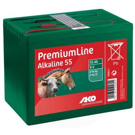 Pile alcaline 9V 55Ah - AKO