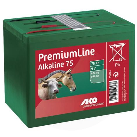 Pile alcaline 9V 75Ah - AKO