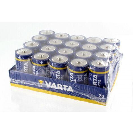 Pile alcaline industrielle 1.5V C LR14 VARTA - boîte de 20 piles - 4014211111