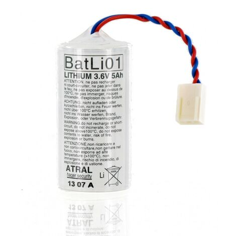 Pile Batli01 d'origine DAITEM 3.6V 5Ah Lithium pour Alarme Daitem, logisty