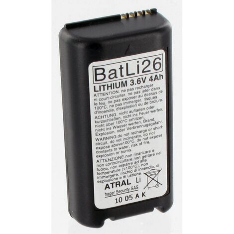 Pile Batli26 d'origine Daitem 3.6V 4Ah Lithium pour Alarme