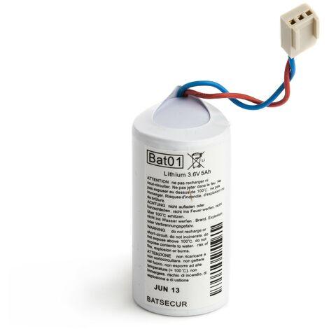 Pile Batterie Alarme BATLI01 Batsecur - Compatible DAITEM/LOGISTY - Lithium - 3,6V - 5,0Ah/6,0Ah