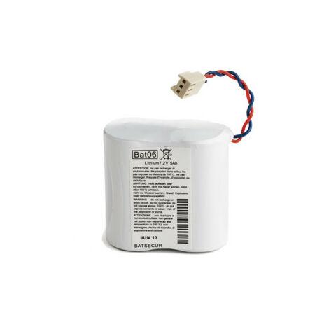 Pile Batterie Alarme BATLI06 Batsecur - Compatible DAITEM/LOGISTY - 7,2V - 5,0Ah/6.0Ah