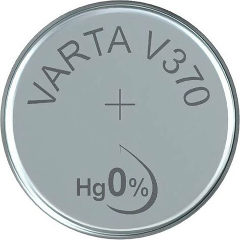 Pile bouton 370 oxyde d'argent Varta 30 mAh 1.55 V 1 pc(s) X37423