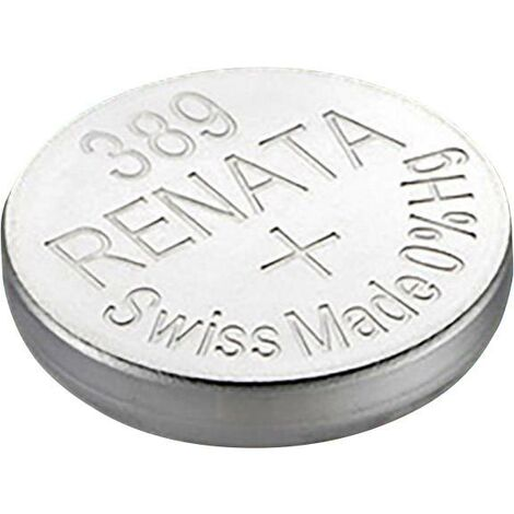 Pile bouton 389 oxyde d'argent Renata 80 mAh 1.55 V 1 pc(s) X37921