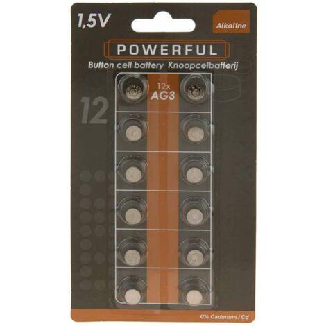 Pile bouton ag3-lr41 les 12 pièces