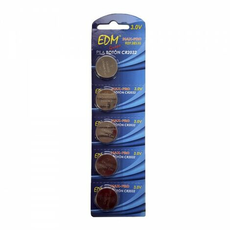 Pile bouton au lithium cr2032 3v edm